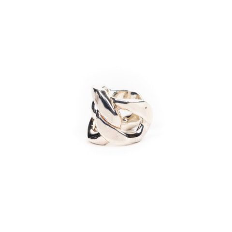 Link Silver Ring Small in Silver Stainless Steel