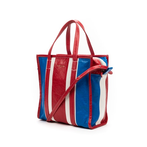 Tote  in Red/Blue/White Calf leather