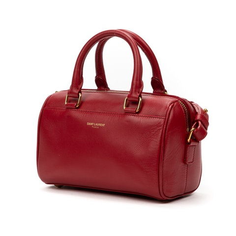 Yves Saint-Laurent Toy Duffle  in Red Calf Leather