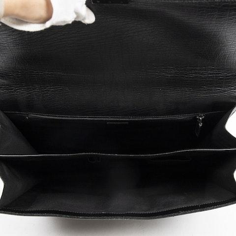 Vintage Briefcase  in Black Calf Leather