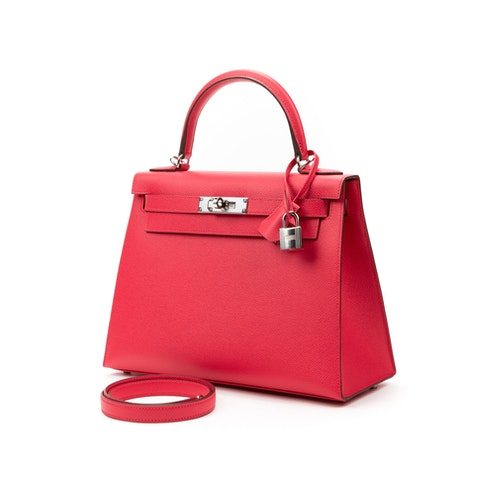 Hermes Kelly 28 in Rose Extreme Calf leather