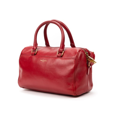 Yves Saint-Laurent Baby Duffle  in Red Calf Leather
