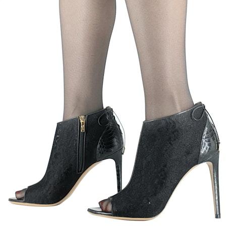 Ferragamo Open Toe Ankle Boots