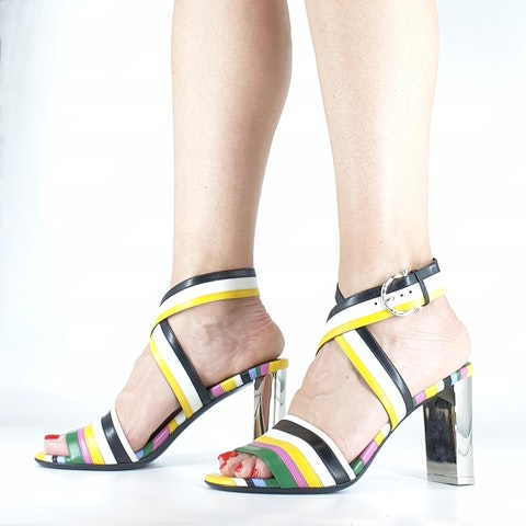 Multicolor Sandal With Heel
