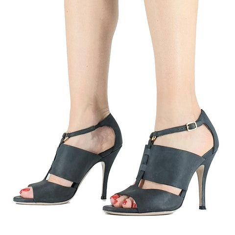 Suede Sandal With Heel