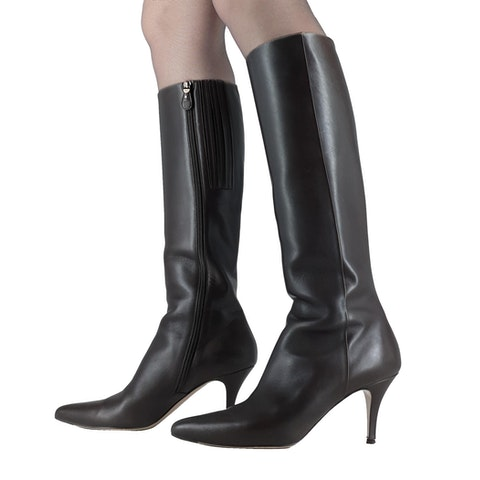 Leather Boots With Heel