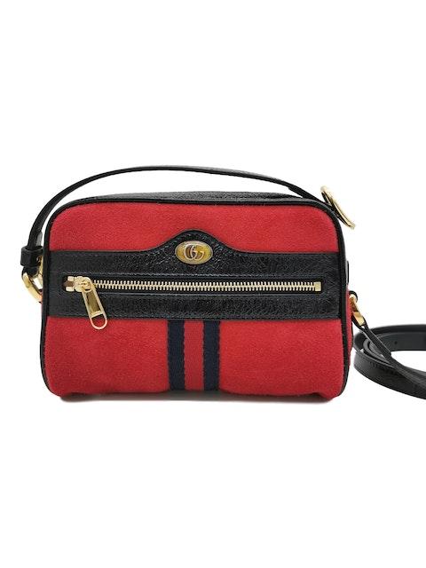 Gucci Ophidia Mini red shoulder bag