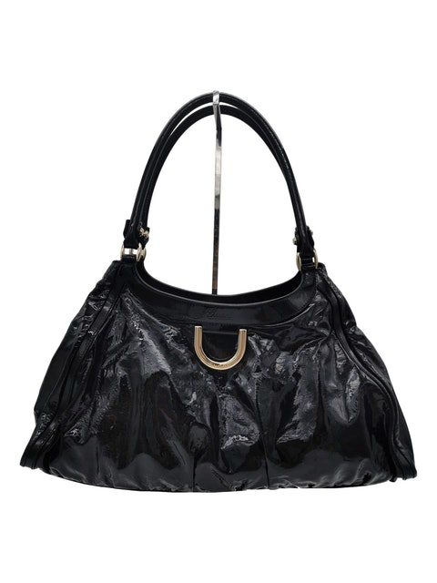 Gucci patent leather shopping bag