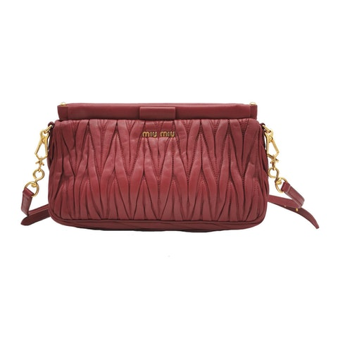 Miu Miu bag in matelassé leather with shoulder strap