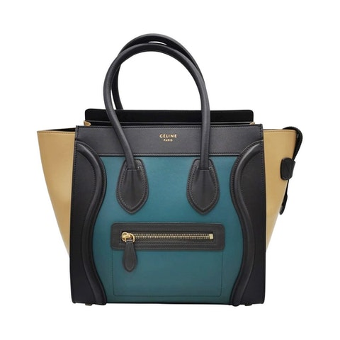 Celine Luggage Micro bag in tricolor leather