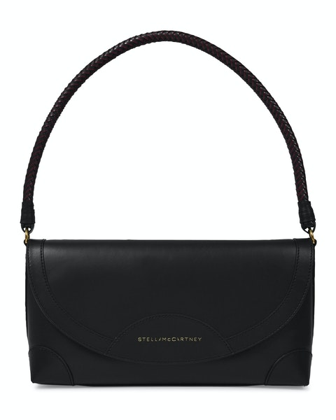 Medium Flap Bag in Black Synthetic Leather