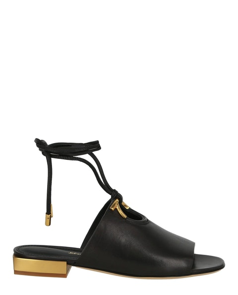 Lanio Leather Lace-Up Sandals