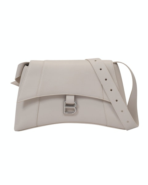 Soft Hour Should S Bag in Beige Leather