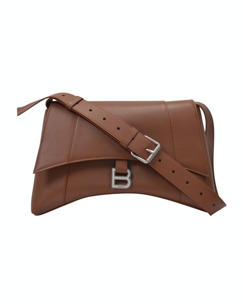 Soft Hour Should M Bag in Brown Leather