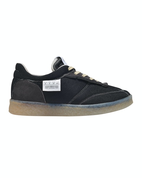 Inside Out 6 Court Sneakers in Black Polyester