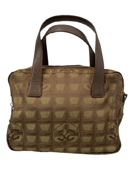 Brown Travel Line Handbag