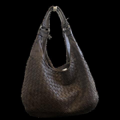 Brown Intrecciato Shoulder Bag