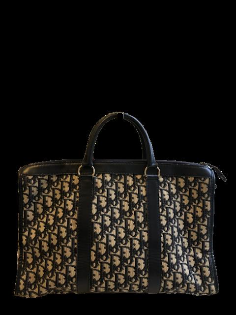 Blue Oblique Boston Bag
