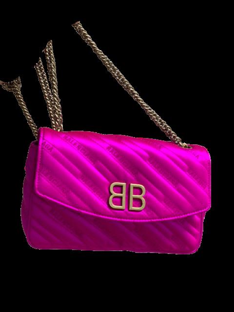 BB Satin Shoulder Bag