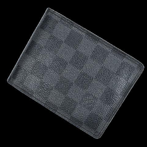Florin Wallet  in Black/Grey Coated Canvas