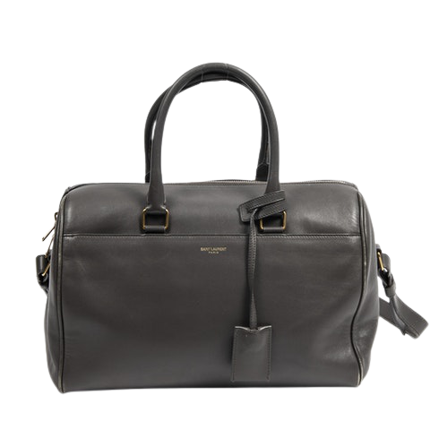 Duffle 6  in Gray Calf Leather