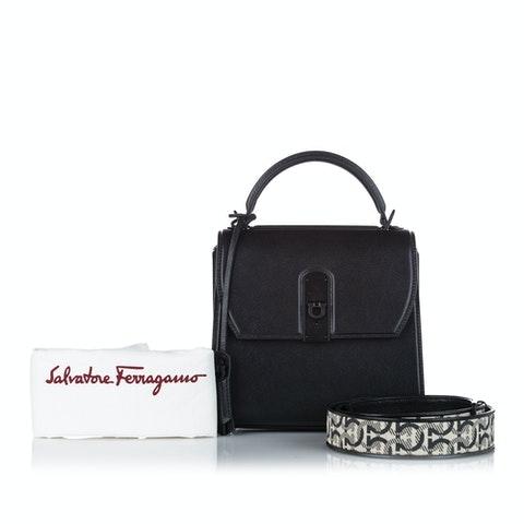 Gancini Leather Handbag