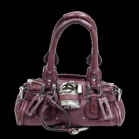 Chloe Paddington  in Purple Calf Leather