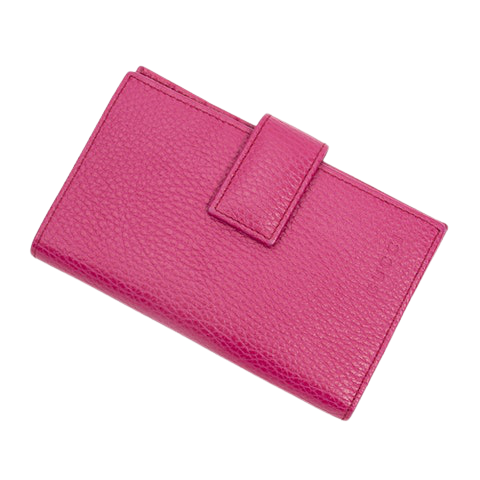 Gucci Compact Bifold Wallet  in Pink Calf Leather