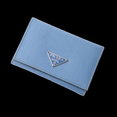 Prada Card Holder  in Blue Canvas