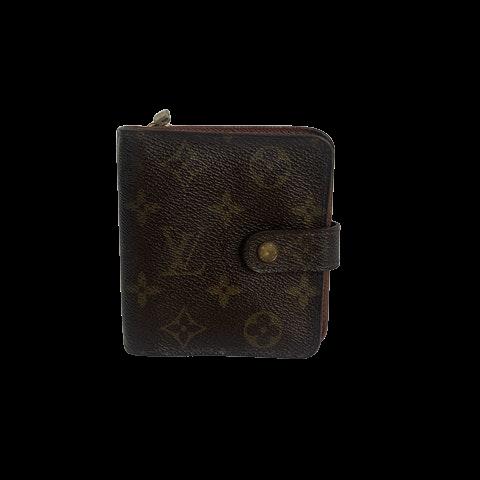 Louis Vuitton Zip Compact Wallet Monogram Canvas