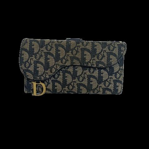 Dior Saddle Wallet Oblique-canvas