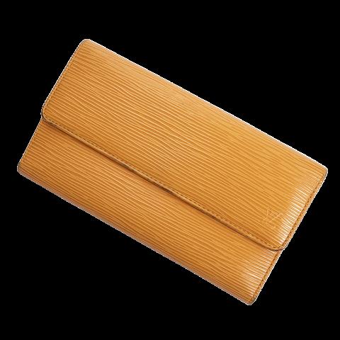 Louis Vuitton International Wallet Orange in Mandarine Calf Leather