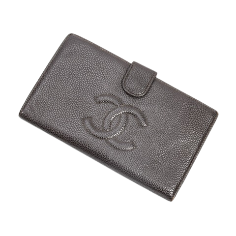 Chanel CC Timeless Long Bifold  in Brown Calf Leather