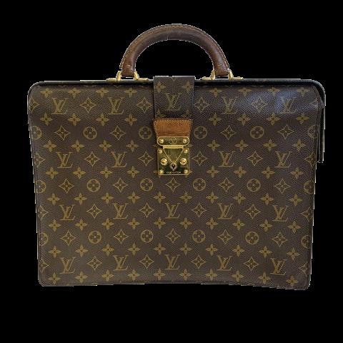 Louis Vuitton Serviette Fermoir Briefcase Monogram Canvas
