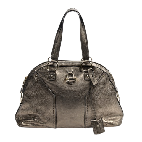 Yves Saint Laurent Large Muse  in Bronze Calf Leather