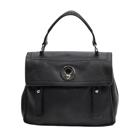 Muse Two  in Black Calf Leather