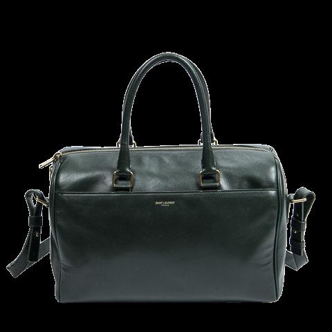 Yves Saint Laurent Duffle 6  in Dark Green Calf Leather