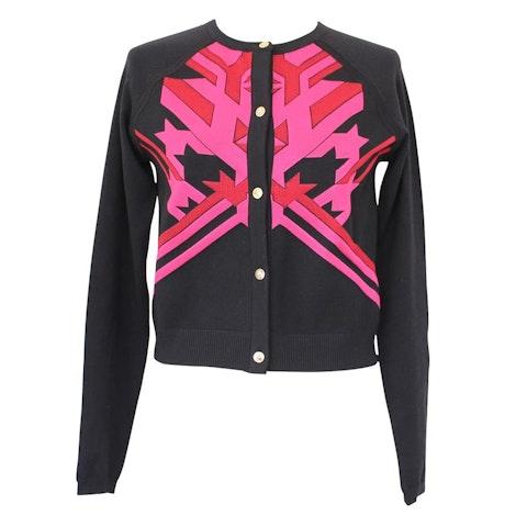 Pink and black cardigan